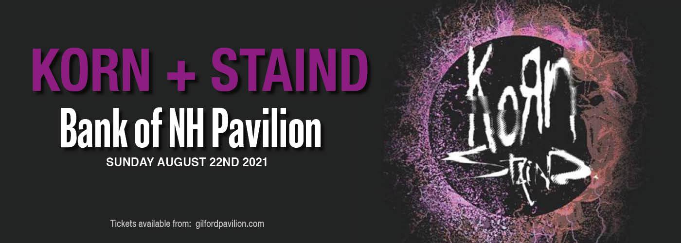 Korn & Staind at Bank of NH Pavilion